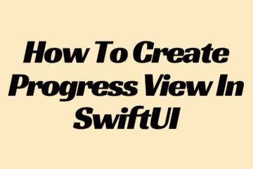 How To Create Progress View In SwiftUI Logo