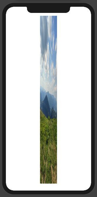 Image with 0.1 aspect ratio and scale to fit